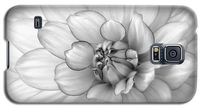 Dahlia Flower Black And White Galaxy S5 Case