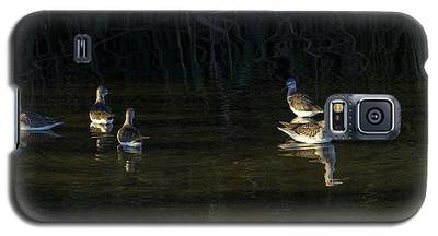 Digital Oil Of Sandpipers Galaxy S5 Case