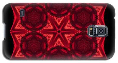 Dying Amaryllis IIi Flower Mandala Galaxy S5 Case