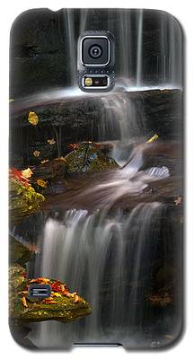 Falls And Fall Leaves Galaxy S5 Case