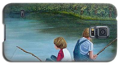 Fishing At The Lake Galaxy S5 Case
