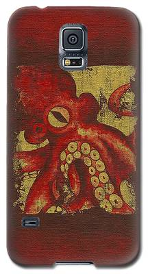 Giant Red Octopus Galaxy S5 Case