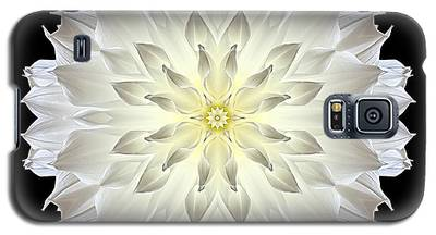 Giant White Dahlia Flower Mandala Galaxy S5 Case