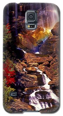 Golden Rainbow Galaxy S5 Case