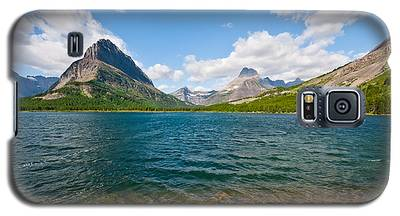 Grinnell Point From Swiftcurrent Lake Galaxy S5 Case