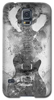 Guitar Siren In Black And White Galaxy S5 Case