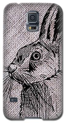 Hare On Burlap Galaxy S5 Case