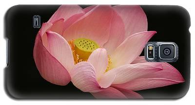 Indian Lotus On Black --- Sacred Light Galaxy S5 Case