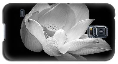 Indian Sacred Lotus In Black And White Galaxy S5 Case