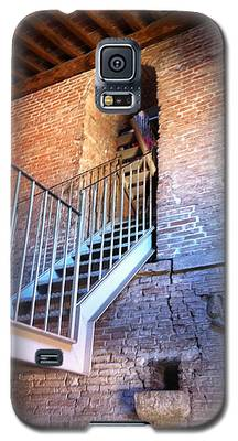 Inside Stairway Of Old Tower In Lucca Italy Galaxy S5 Case