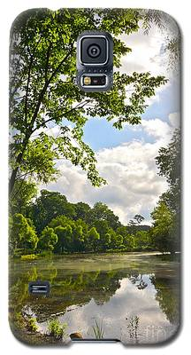 July Fourth Duck Pond With Goose Galaxy S5 Case