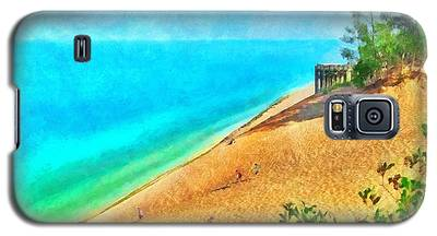 Lake Michigan Overlook On The Pierce Stocking Scenic Drive Galaxy S5 Case