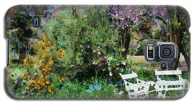 Lawn Chairs In The Garden Galaxy S5 Case