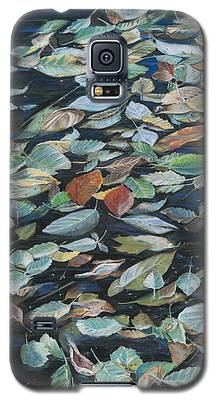 Leaves On Pond Galaxy S5 Case