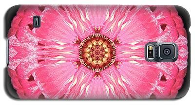 Light Red Zinnia Elegans Flower Mandala Galaxy S5 Case