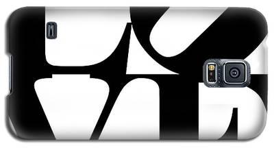 Love 20130707 Black White Galaxy S5 Case
