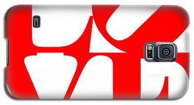 Love 20130707 Red White Galaxy S5 Case