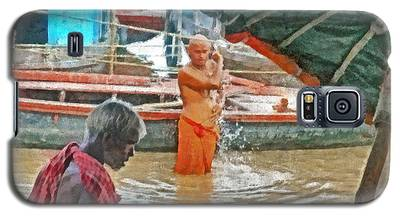 Men Bathing In The Ganges River Galaxy S5 Case