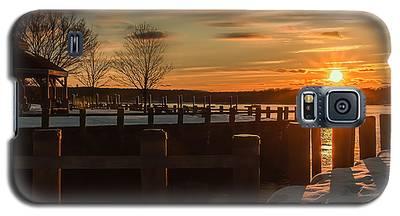 Northport New York Winter Sunset Galaxy S5 Case
