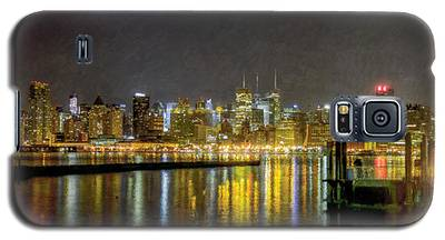 Nyc At Night Faux Oil Galaxy S5 Case
