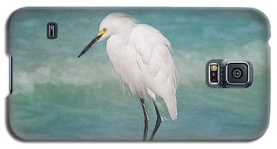 One With Nature - Snowy Egret Galaxy S5 Case