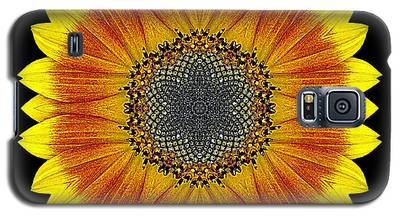 Orange And Yellow Sunflower Flower Mandala Galaxy S5 Case