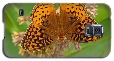 Orange Butterfly3 Galaxy S5 Case