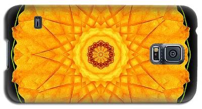 Orange Nasturtium Flower Mandala Galaxy S5 Case
