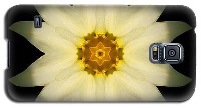 Pale Yellow Daffodil Flower Mandala Galaxy S5 Case