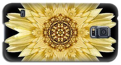 Pale Yellow Gerbera Daisy I Flower Mandala Galaxy S5 Case