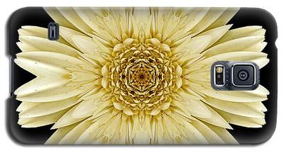 Pale Yellow Gerbera Daisy IIi Flower Mandala Galaxy S5 Case