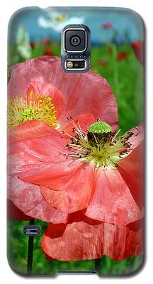 Peach Poppy Pods Galaxy S5 Case