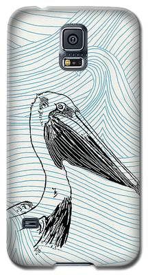 Pelican On Waves Galaxy S5 Case
