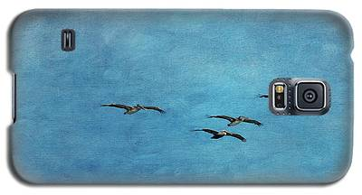 Pelicans In Flight Galaxy S5 Case