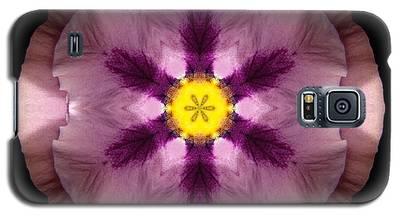 Pink And Purple Pansy Flower Mandala Galaxy S5 Case