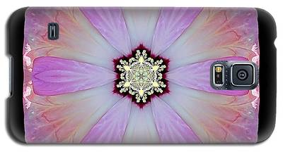 Pink And White Hibiscus Moscheutos I Flower Mandala Galaxy S5 Case