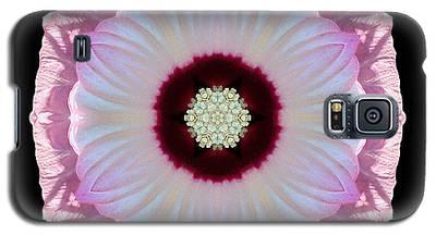 Pink And White Hibiscus Moscheutos Vii Flower Mandala Galaxy S5 Case