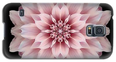 Pink Dahlia Flower Mandala Galaxy S5 Case