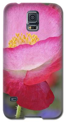 Pink Poppy Galaxy S5 Case