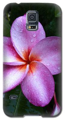 Plumeria With Raindrops Galaxy S5 Case