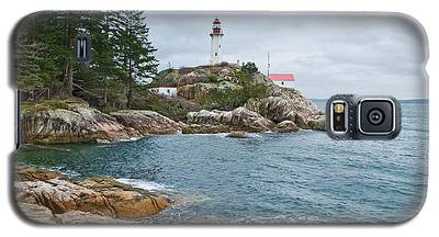 Point Atkinson Lighthouse And Rocky Shore Galaxy S5 Case