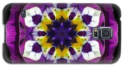 Purple Pansy II Flower Mandala Galaxy S5 Case