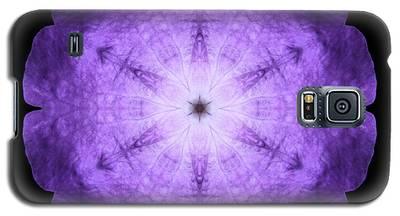 Purple Petunia I Flower Mandala Galaxy S5 Case