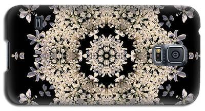 Queen Anne's Lace Flower Mandala Galaxy S5 Case