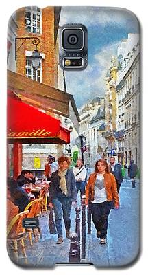 Restaurant Camille In The Marais District Of Paris Galaxy S5 Case