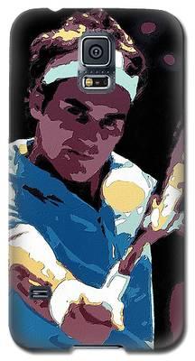 Roger Federer Portrait Art Galaxy S5 Case