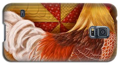 Rooster On A Quilt II Galaxy S5 Case