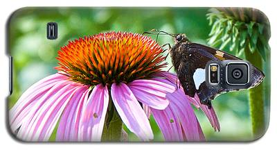 Silver-spotted Skipper And Echinachea Galaxy S5 Case
