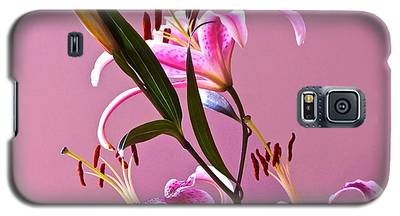 Stargazer Lilies Square Frame Galaxy S5 Case