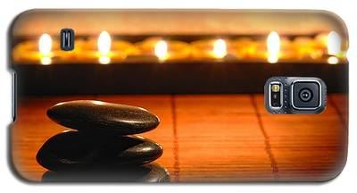Stone Cairn And Candles For Quiet Meditation Galaxy S5 Case